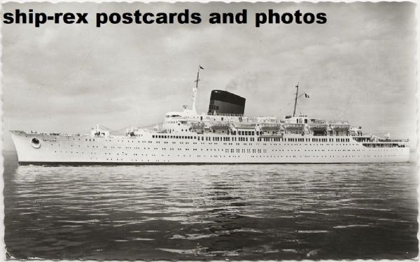 ANTILLES (CGT/French Line) postcard (b2)